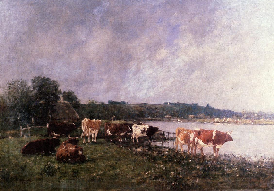 Cows on the Riverbanks of the Touques, 1880