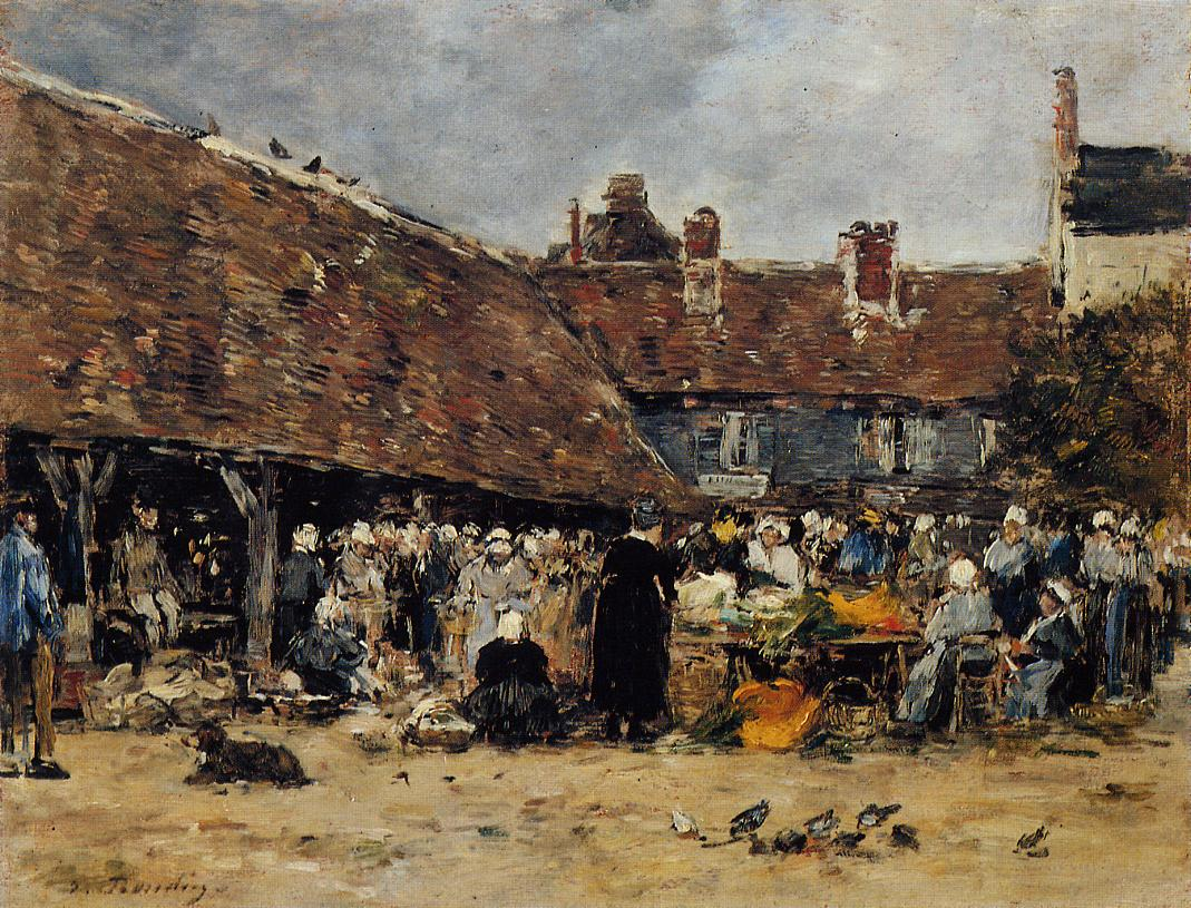 Market at Trouville, 1883