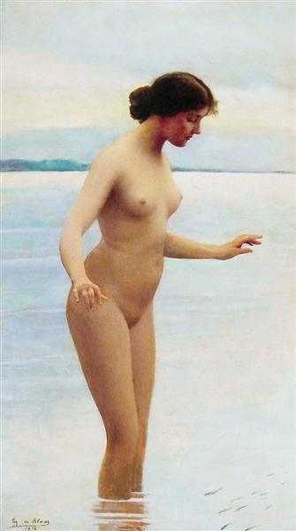 In the water, 1914 - Эжен де Блаас