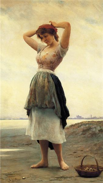 On the Beach, 1908 - Eugen de Blaas