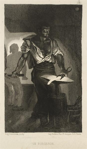 A Blacksmith, 1833 - Eugene Delacroix