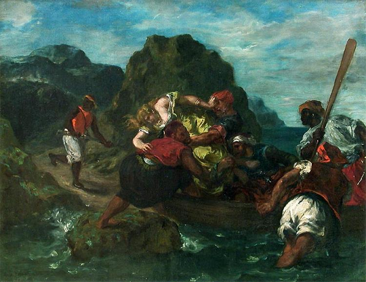 African Pirates Abducting a Young Woman, 1852 - Eugene Delacroix
