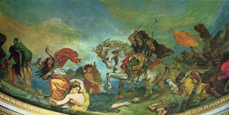 Attila and his Hordes Overrun Italy and the Arts, 1838 - 1847 - Eugene Delacroix