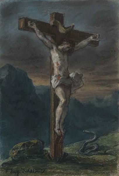 Christ on the Cross, 1853 - 1856 - Eugene Delacroix