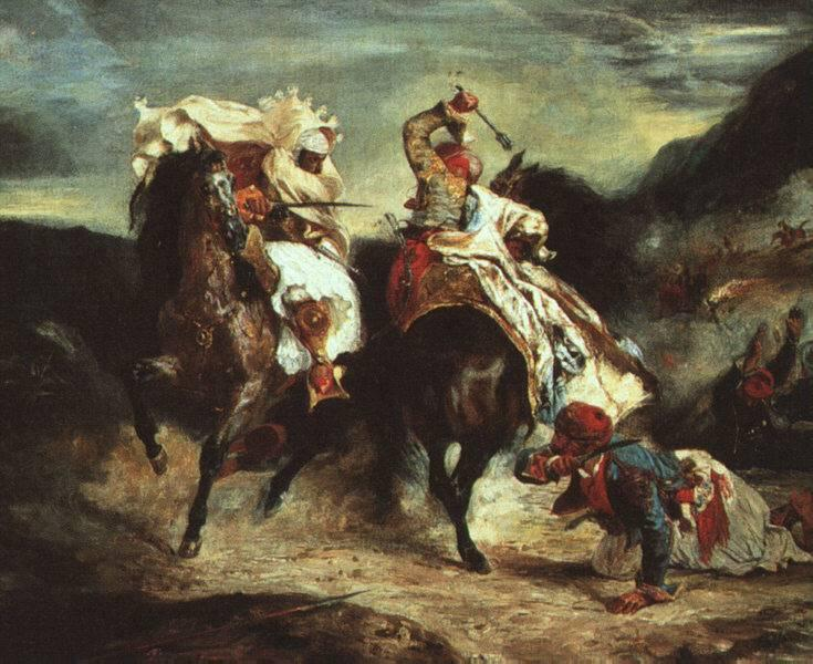 Combat Between the Giaour and the Pasha, 1826 - Eugene Delacroix