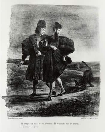 Faust, Goethe's Tragedy, 1828 - Eugene Delacroix
