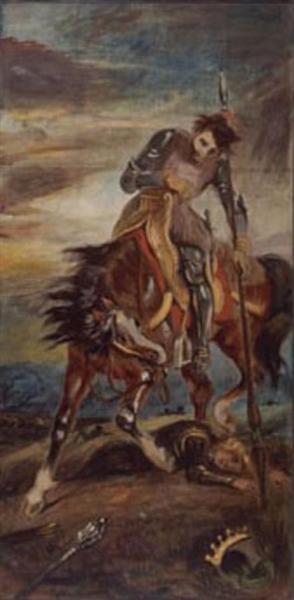 King Rodrigo, 1833 - Eugene Delacroix