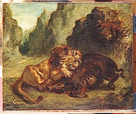 Lion and boar, 1853 - Eugene Delacroix
