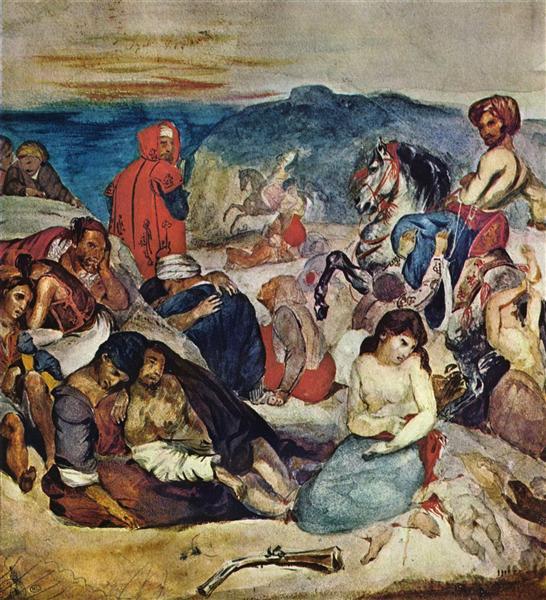 Massacre of Chios - Delacroix Eugene