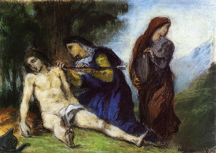 St. Sebastian, 1836 - Eugene Delacroix