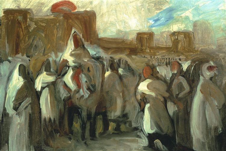 Sultan Abel el Rahman, 1840 - Eugene Delacroix