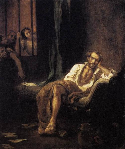 Tasso in the Madhouse, 1839 - Eugene Delacroix