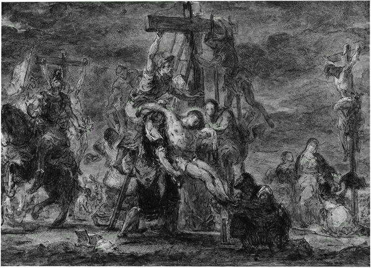The Descent from the Cross - Eugene Delacroix