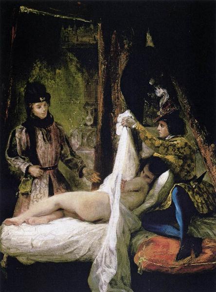 The Duc d'Orleans Showing his Mistress to the Duc de Bourgogne, 1825 - 1826 - Eugene Delacroix