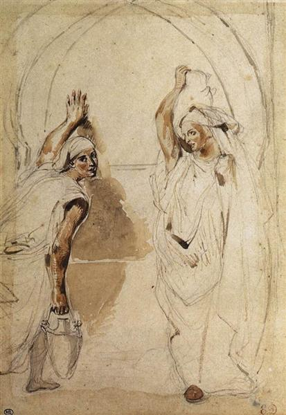 Two Women at the Well, 1832 - Eugene Delacroix