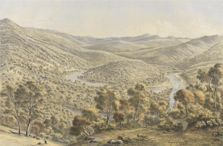 Junction of the Buchan and Snowy Rivers, Gippsland, 1867 - Eugene von Guerard