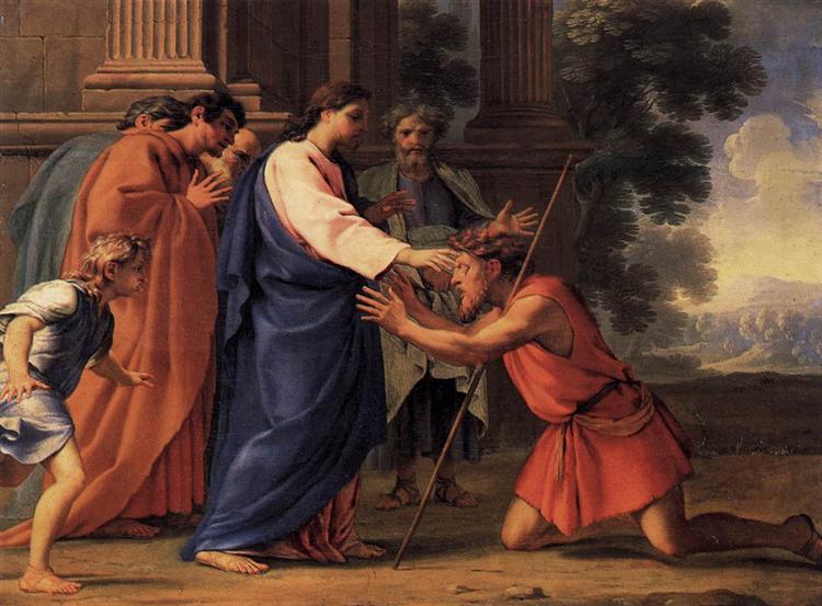 Christ Healing the Blind Man - Eustache Le Sueur