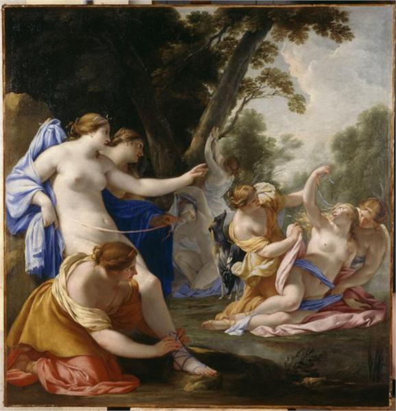Diane découvrant la grossesse de Callisto, 1639 - Есташ Льосюйор