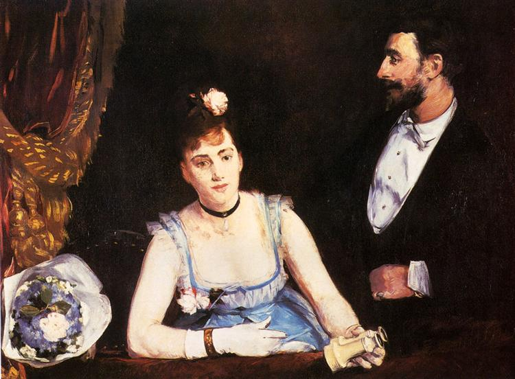 A Box at the Italian Theatre, 1874 - Eva Gonzales