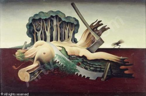 Femme surréaliste, 1943 - Félix Del Marle