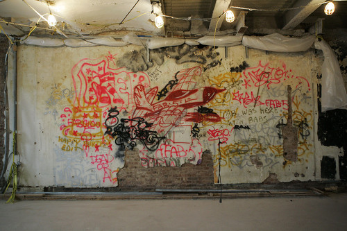 Mural (collaboration with Futura 2000 and Jean-Michel Basquiat) - Fab 5 Freddy