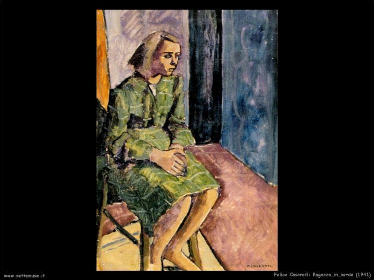 Ragazza in verde, 1941 - Felice Casorati