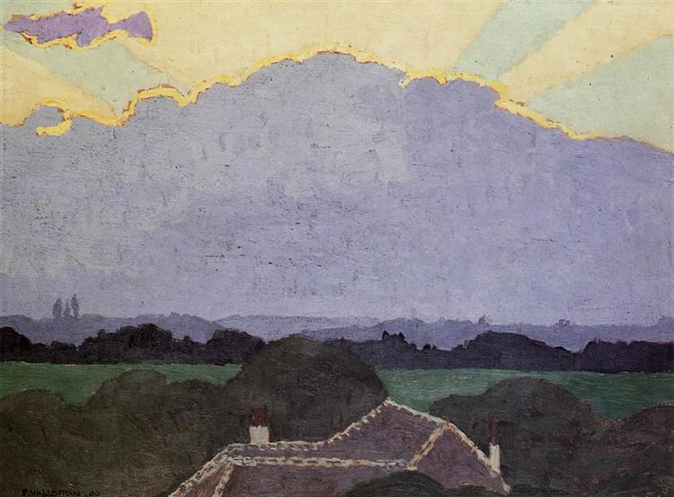 Cloud at Romanel, 1900 - Felix Vallotton