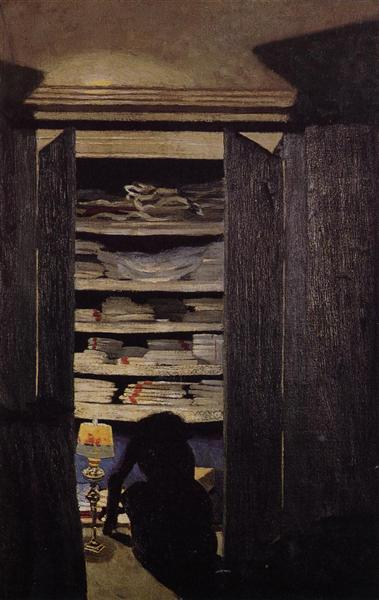 Woman Searching through a Cupboard, 1900 - 1901 - Felix Vallotton