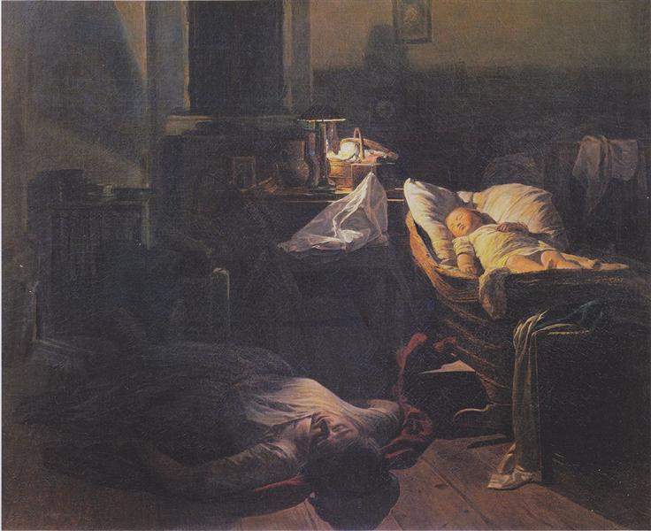Depleted power, 1854 - Ferdinand Georg Waldmüller