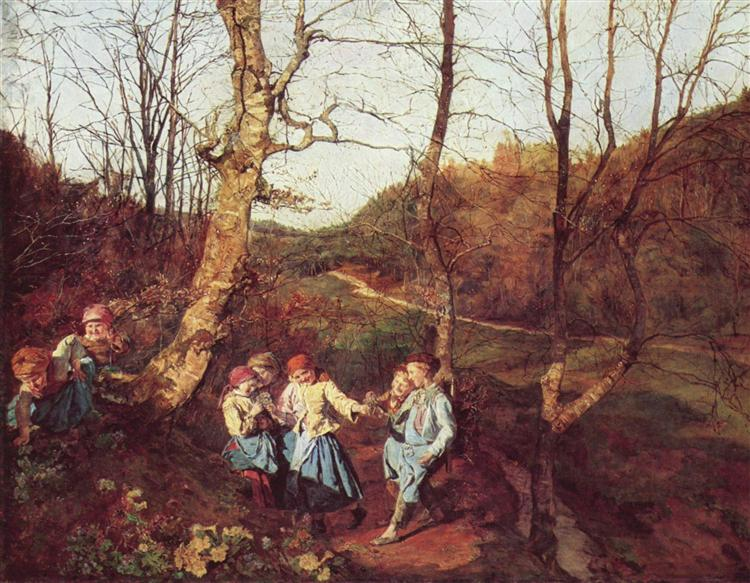 Early Spring in the Vienna Woods, 1861 - Ferdinand Georg Waldmüller