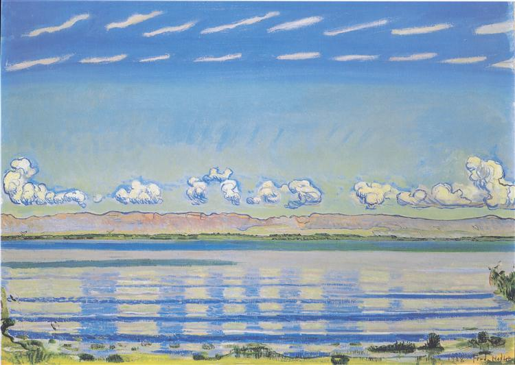 Rhythmic landscape on Lake Geneva, 1908 - Ferdinand Hodler