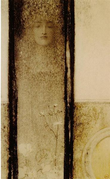 Woman of mystery, 1909 - Фернан Кнопф