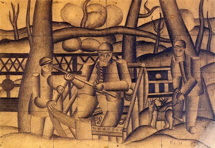 Fishermen, 1921 - Fernand Leger