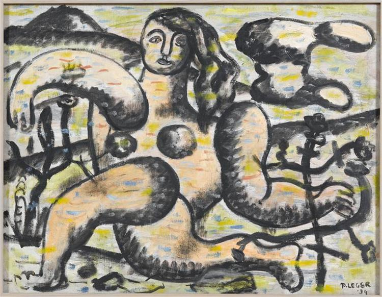 The kneeling woman, 1934 - Fernand Leger