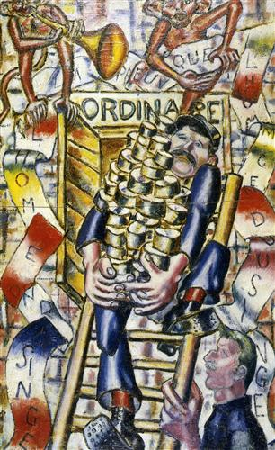 The proof that the Man descent monkey - Fernand Leger