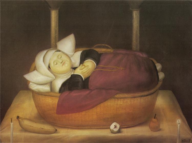 New-born Nun - Botero Fernando
