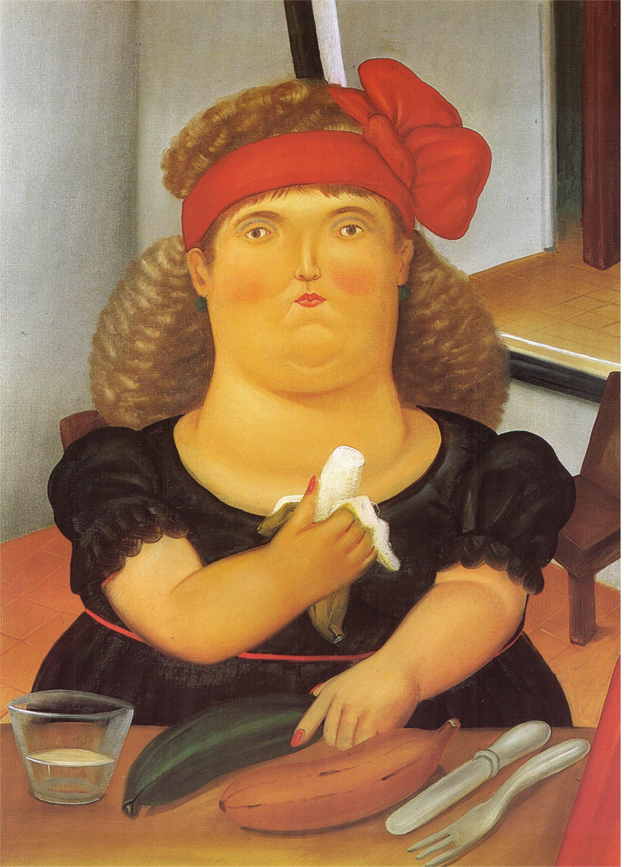 Bien-aimé Woman Eating a Bannana, 1982 - Fernando Botero - WikiArt.org WH63