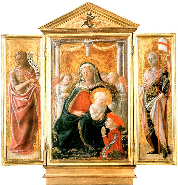 Madonna of Humility with Angels and Donor, 1430 - Filippo Lippi