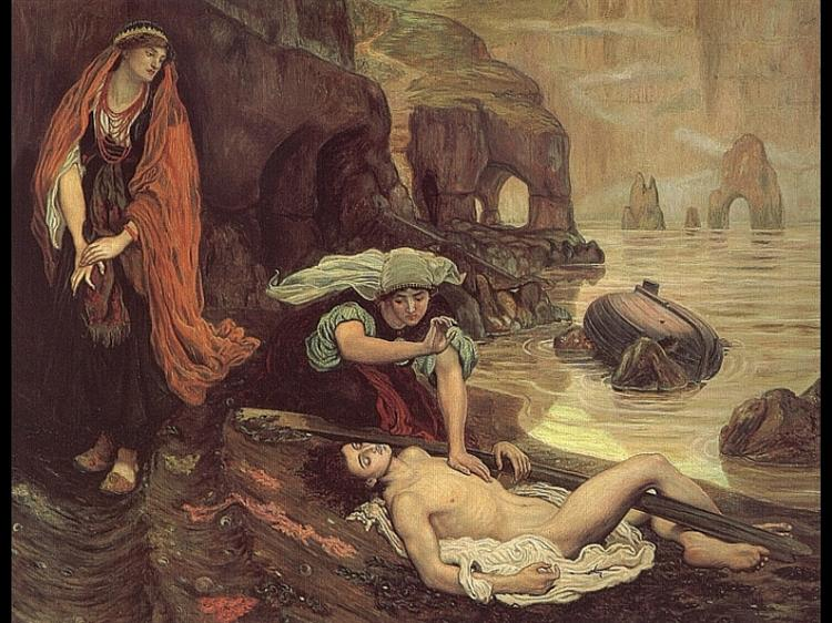 The Finding of Don Juan by Haidee, 1869 - Ford Madox Brown