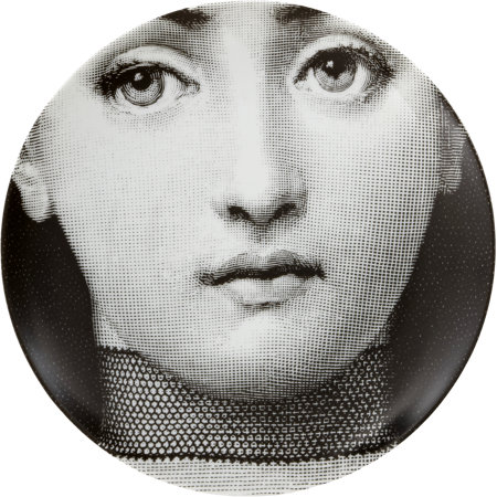 Theme & Variations Decorative Plate #220 (Face with Choker Necklace) - Piero Fornasetti