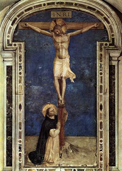Saint Dominic Adoring the Crucifixion, 1441 - 1442 - Fra Angelico