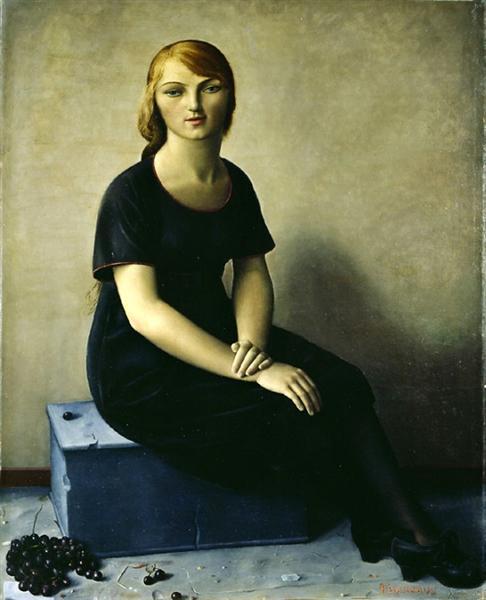 Yvonne in a Velvet Dress, 1930 - François Barraud