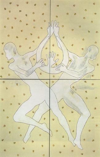Twins, 1978 - Francesco Clemente