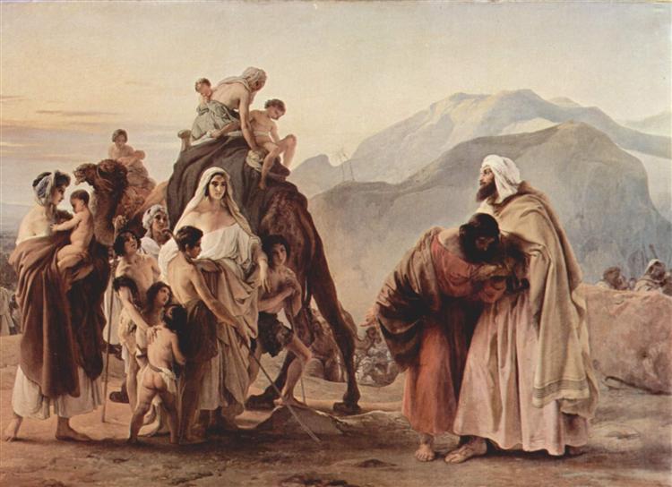 Meeting of Jacob and Esau, 1844 - Francesco Hayez