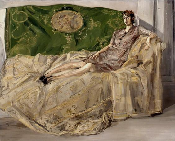 Femme sur un canapé - Francis Gruber
