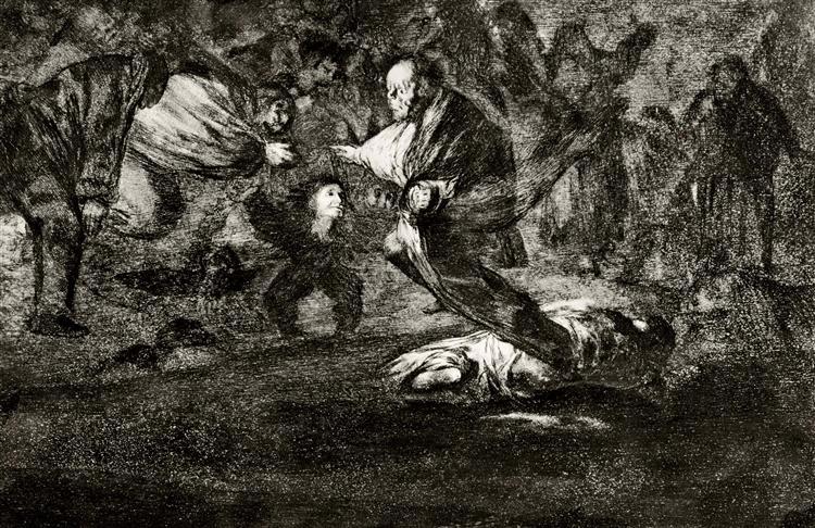 Absurdity funeral, 1816 - 1823 - Francisco Goya