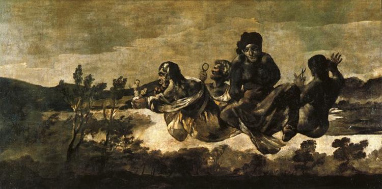 Atropos (Las Parcas) , 1820 - 1823 - Francisco de Goya