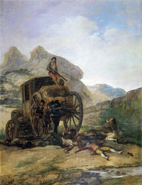 Attack on a Coach, 1793 - Francisco Goya
