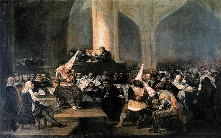 Inquisition Scene, 1812 - 1819 - Francisco Goya