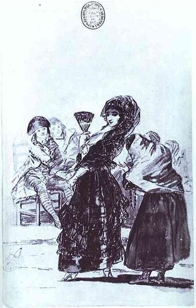 Old Beggar with a Maja, 1797 - 1799 - Francisco Goya